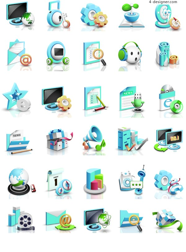 Creative personality simple flat business office financial PPT icon material