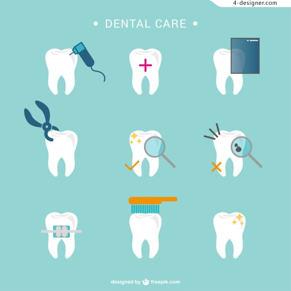 Dental care vector material