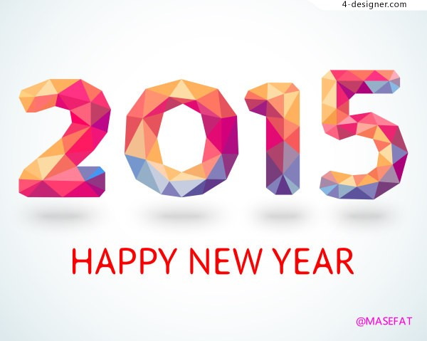 Happy new year 2015 New Year material font design material Happy New Year 2015