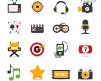 Of 16 entertainment related icons
