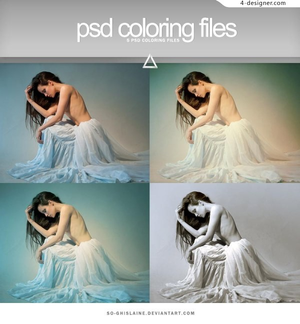 Psd coloring files