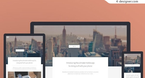 Share a foreign delicate HTML5 response template