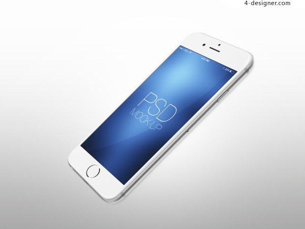 White Apple Iphone 6 HD display model mobile phone footage