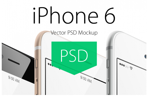 IPhone 6 Plus Angle View Mockup iPhone6 display model PSD file