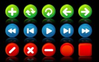 3D computer system theme beautifully ICON