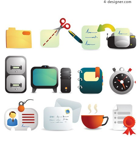 3D icon vector material office
