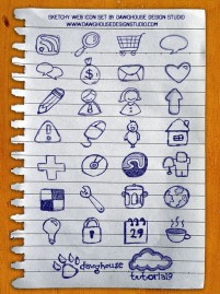 A variety of hand painted pages icon material