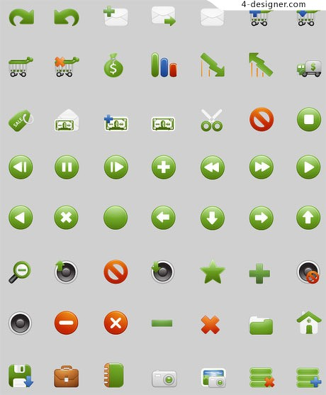 Beautifully designed icon material