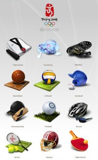 Beijing Olympic 3D icon material