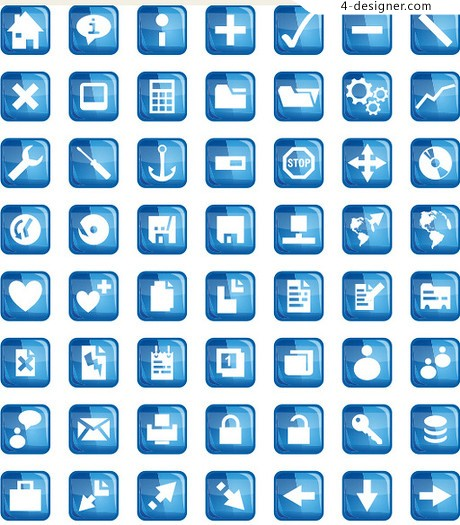 Blue crystal texture icon package material