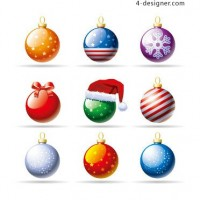 Christmas ball icon vector material