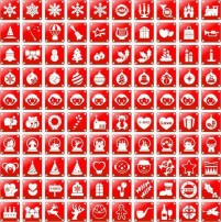Christmas theme red icon material
