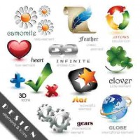 Exquisite 3D icon vector material 01