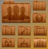 Exquisite collection of wooden material ICON
