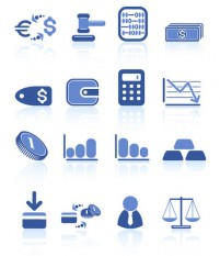 Financial blue icon theme material