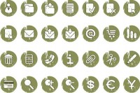 Green circle icon web page material