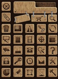 Logo icon exquisite small wooden material