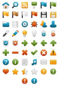 Onebit web icon set material a