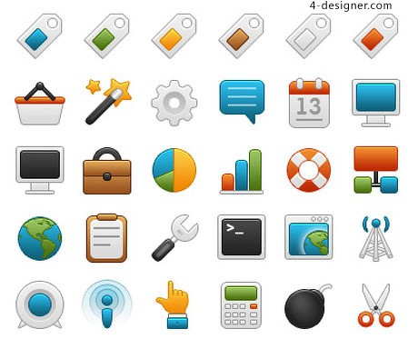 Onebit web icon set material two