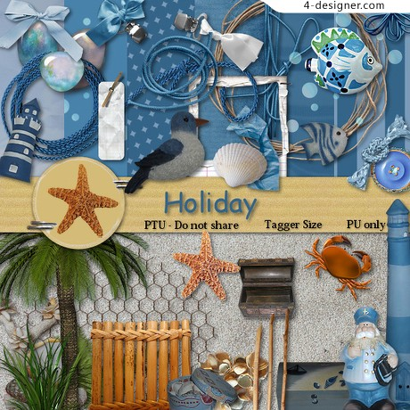 Personalized png icon blue seabed material