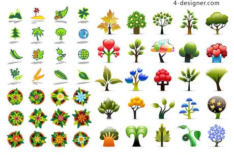 Plants icon vector material