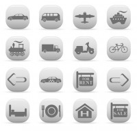 Simple travel icon vector material