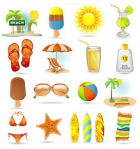 Summer icon vector material