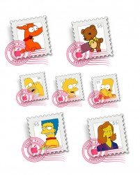 The Simpsons cartoon series material Mail icon