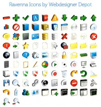 The interface design icon design material