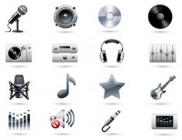 The trend of music theme ICON