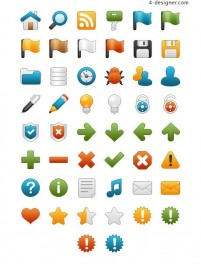 Variety of office and teaching material icon png