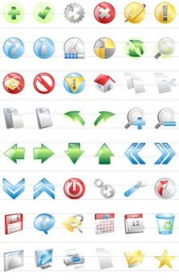 Variety of texture web icon material