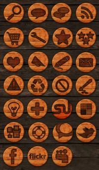 Variety of wood material web icon