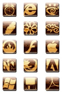 Wooden texture Software icon material