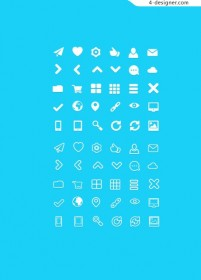 Fat Icons PSD material