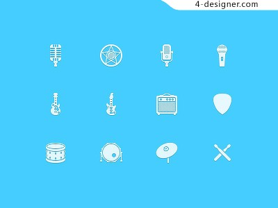 Musical icon psd material