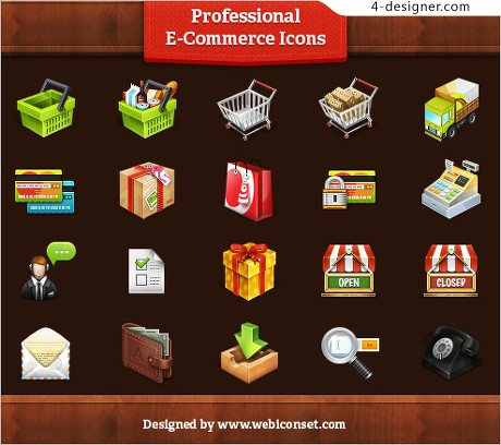 Shopping site elements icon