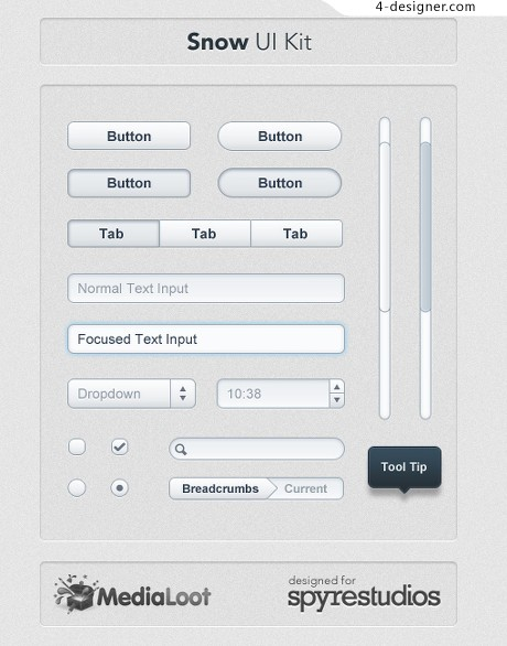 Simple web interface PS material