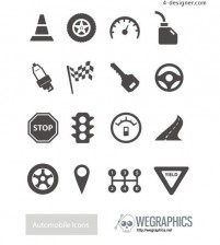 Traffic icon vector material