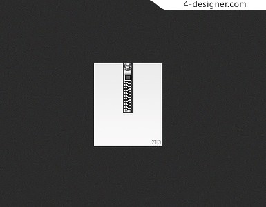 Zipper icon PSD material