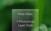 A vista glass style material PS Layer Styles