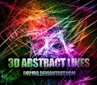 Abstract three dimensional effects brushes