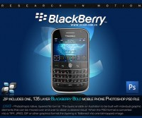 Blackberry mobile phones psd layered material
