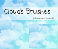 Brush clouds psd material