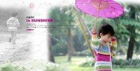 Children exquisite album PSD template 05