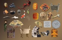 Chinese classical elements psd material 02