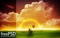 Cloud dreamlike psd layered material