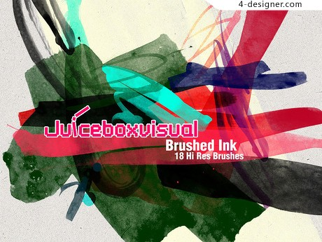 Color ink marks psd brushes