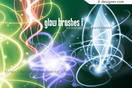 Cool light effects psd brushes