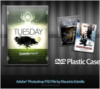DVD cover design template psd material
